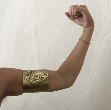 Vintage MEX Handmade Muscle Cuff - Brass