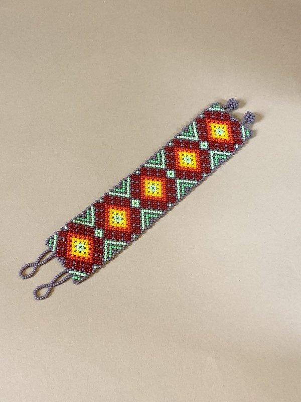 Myths of Creation Sacred Huichol Mexican Beaded Bracelet