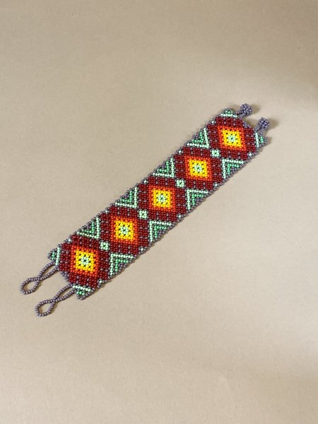 Myths of Creation Sacred Huichol Mexican Beaded Bracelet