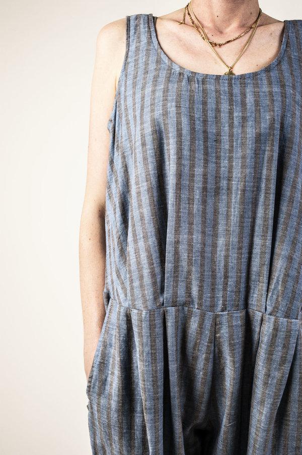 F O L D Jumpsuit - Navy Stripe