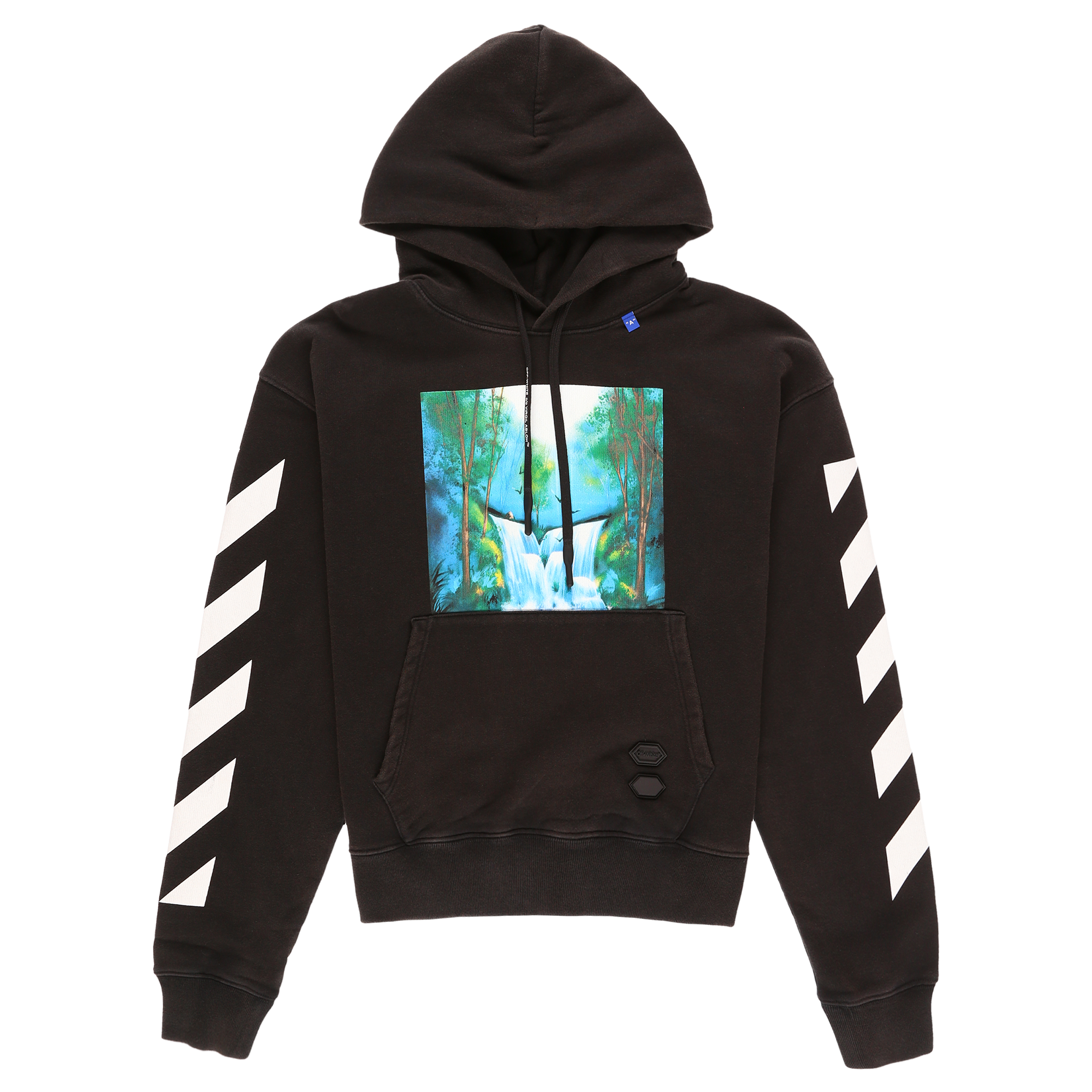9ced843a Off-White Diagonal Waterfall Oversized Hoodie - Black/Multicolor ...