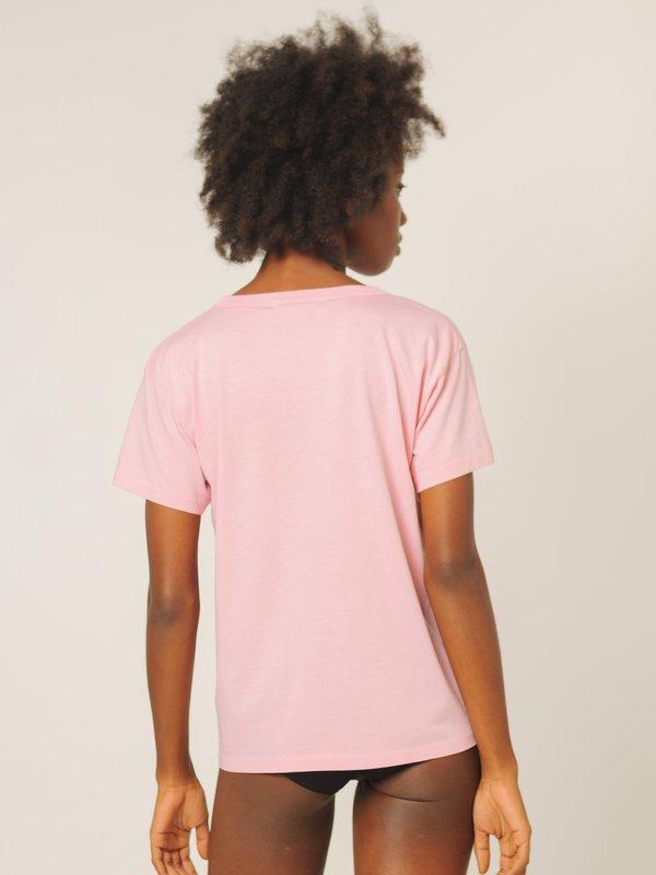Calder Blake Joaquin Boyfriend Tee - Grapefruit Pink