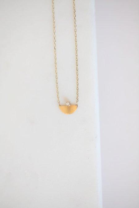 GJenmi Half Moon Necklace - 14k Gold