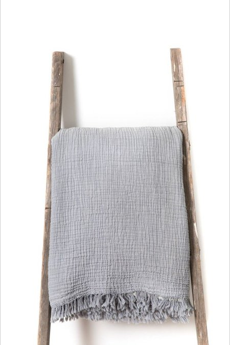 Hamamlique Alaia Dray Bed Cover - Grey