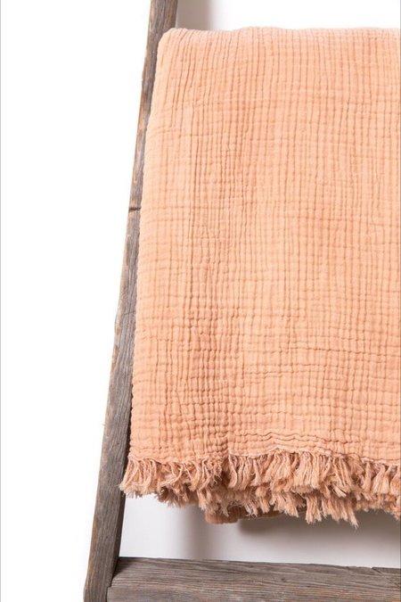 Hamamlique Alaia Bed Cover - Peach