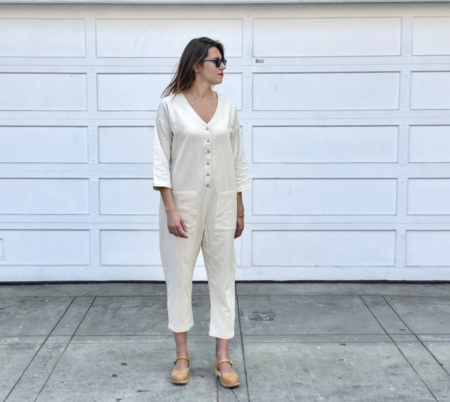 Happy French Gang Jumpsuit - Natural Cream