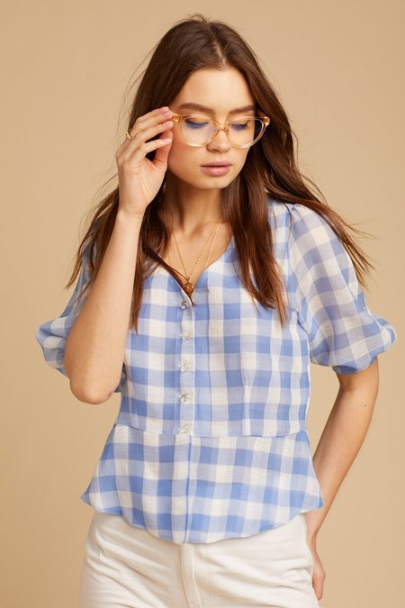 Capulet Maybelle Top - Blue Gingham
