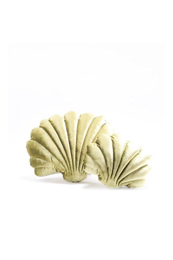 Tamar Mogendorff Shell Pillow - Chartreuse