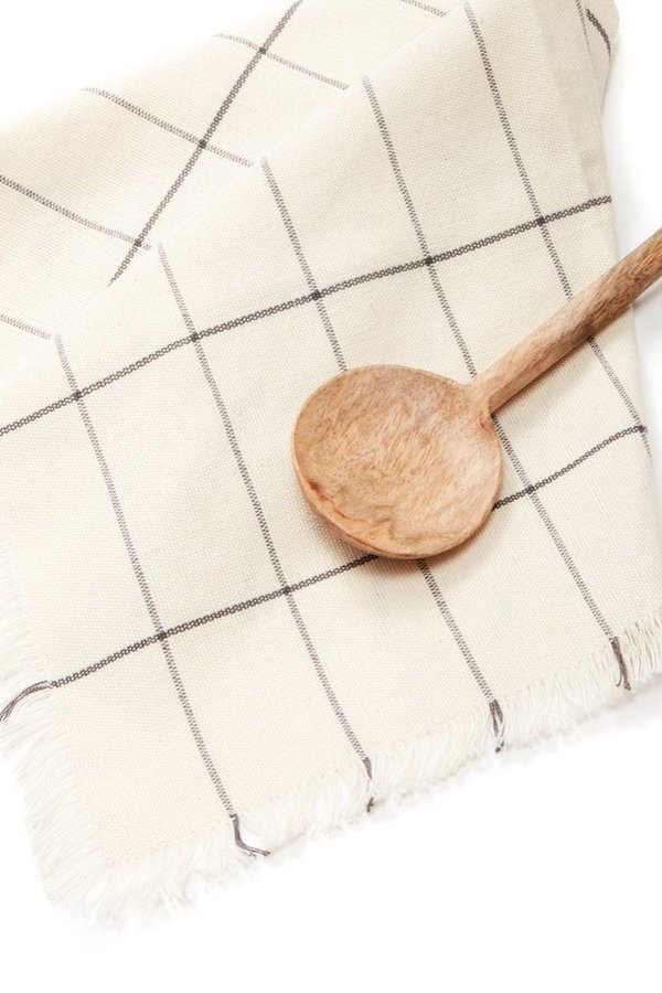 Minna Goods Napkin Set - Cream Grid
