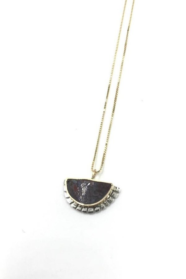 Young In The Mountains Dino Selene Necklace - Gold