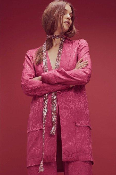 For Love & Lemons Lara Smoking Jacket - Dusty Rose