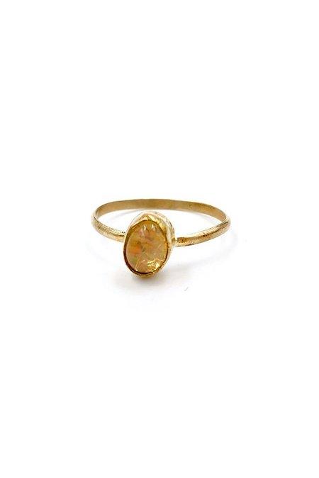Broken Arrow Mesa Ring - 14K gold/Fire Opal