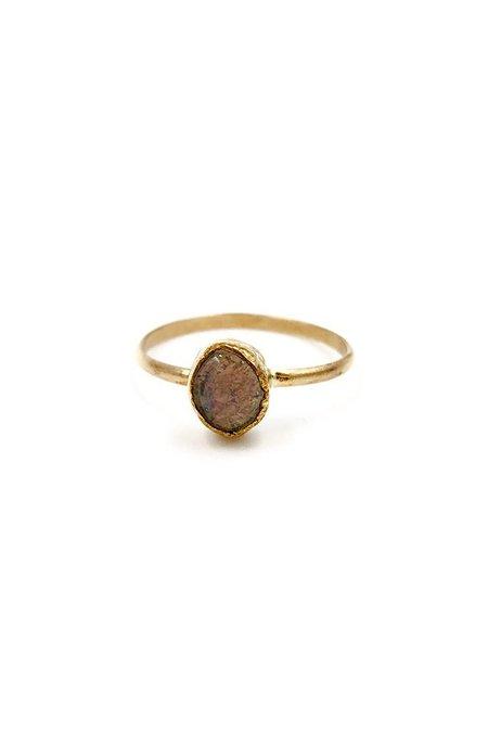 Broken Arrow Tucson Ring - 14K gold/Fire Opal