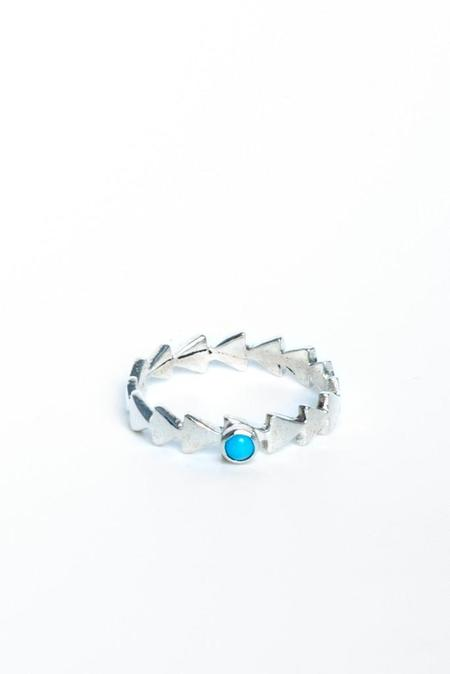 Eleven Arrows Follow The Arrows Ring - sterling silver/turquoise/opal