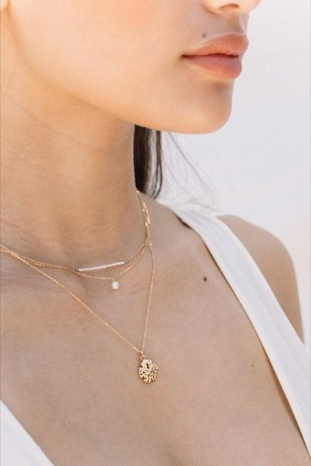 Jurate Brown Goddess Necklace