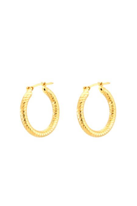Jurate Brown Eve Hoops - Gold