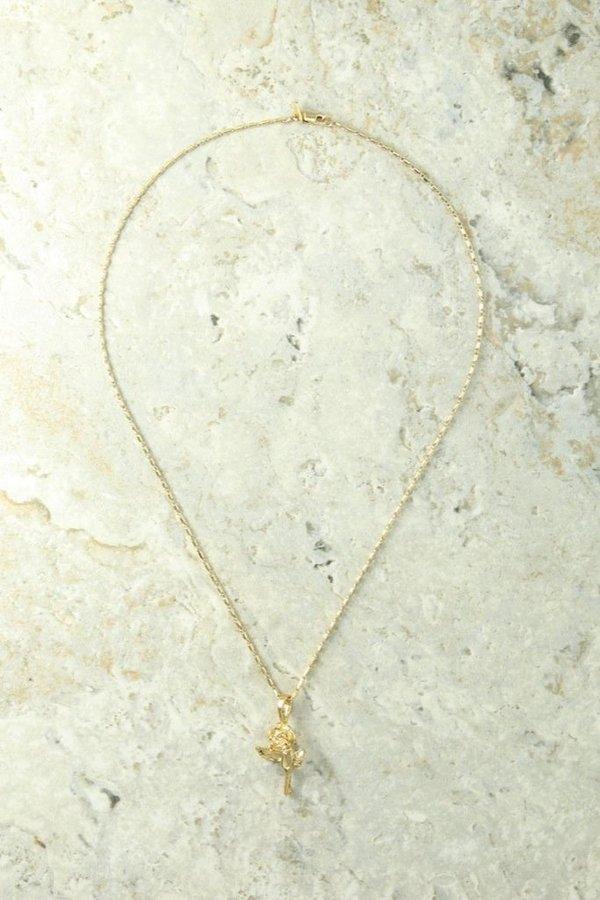 Vanessa Mooney Little Rose Charm Necklace