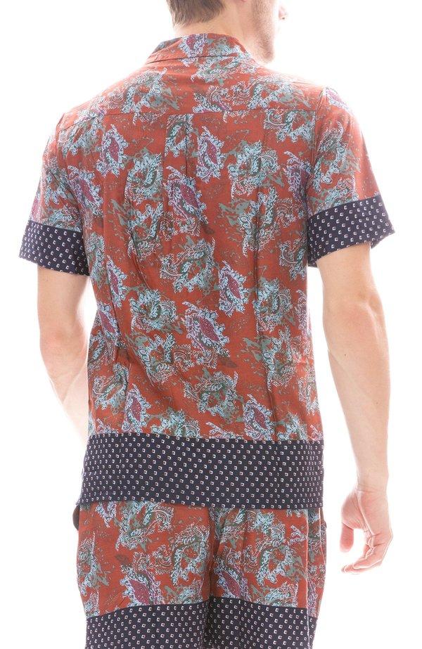 Native Youth Wright Shirt - Orange Prints