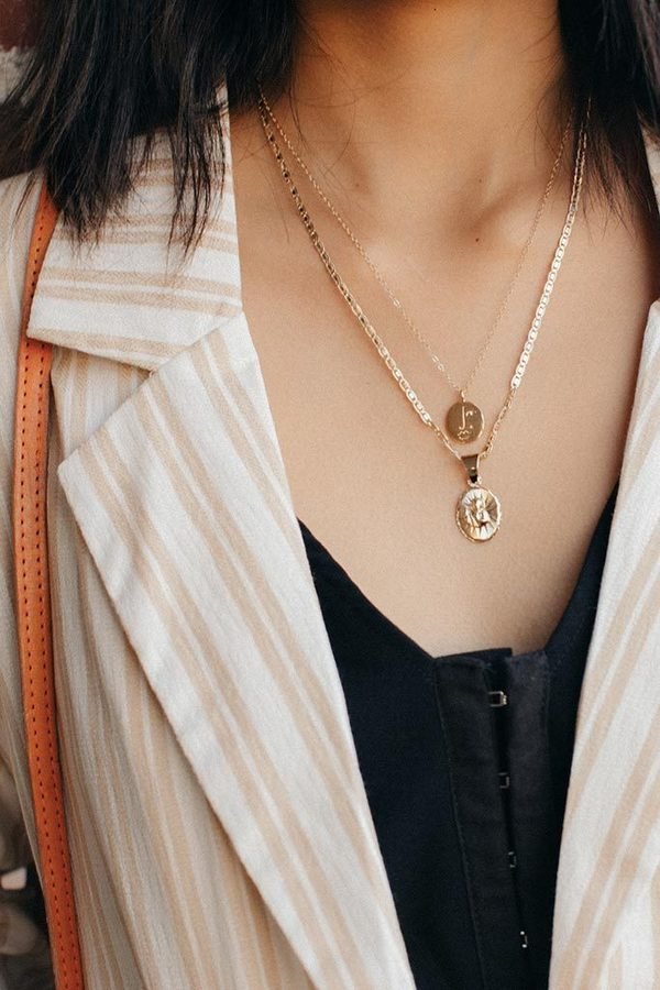 Wolf Circus Matisse Face Necklace - Gold