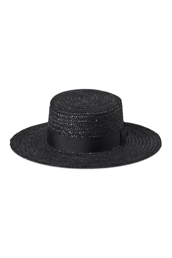 7bf57dd76 Lack of Color Noir Spencer Boater - Black on Garmentory