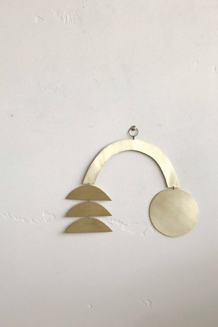 electric sun creatives Rainbow Wall Hanging - brass