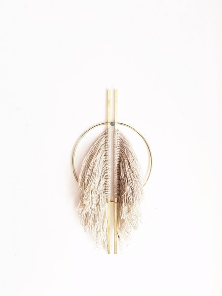 Attalie Dexter Vertical Fringed Wall Hanging - Taupe