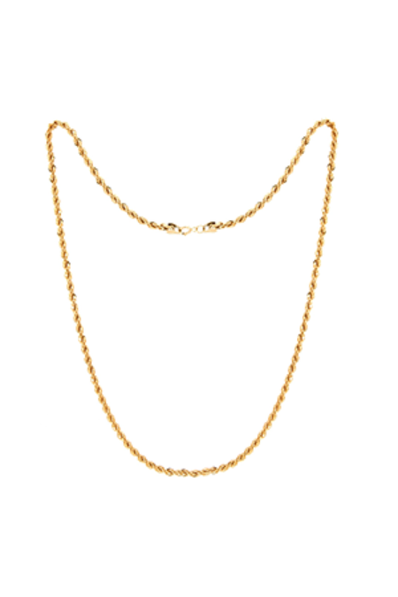 Jurate Brown Twiggy Necklace - Gold
