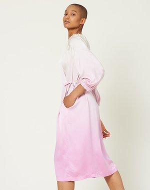 Raquel Allegra Tie Waist Dress - Orchid Whisper Tie Dye