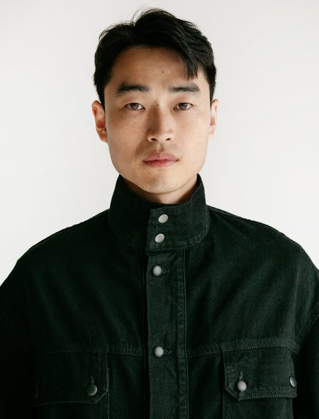 ECKHAUS LATTA Tethered Denim Jacket - Black