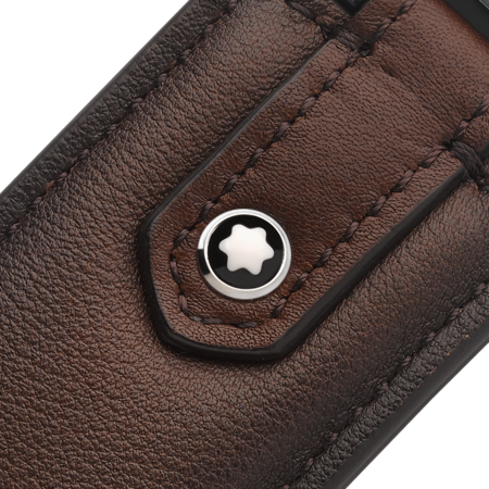 Montblanc Portachiavi Meisterstuck Sfumato Key Fob - Brown Leather