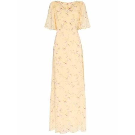 byTiMo Delicate Semi Wrap Dress - Yellow Poppy