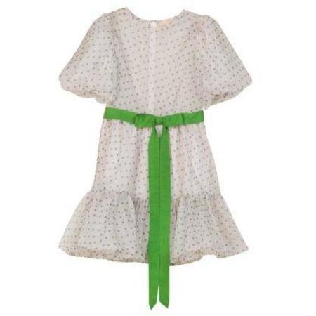 byTiMo Organza Mini Dress - Blue Dots