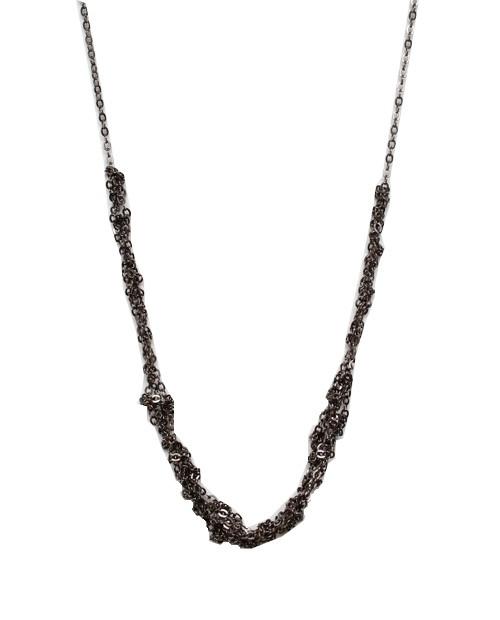 love + keep the mini necklace gunmetal