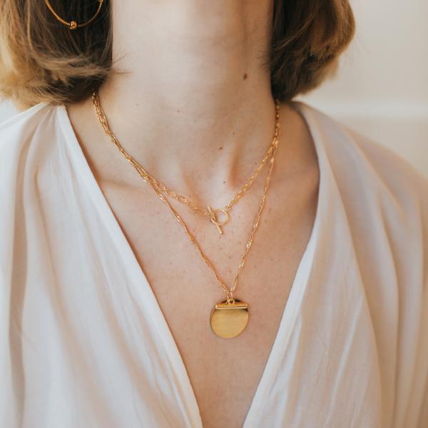 Mod + Jo Faye Pendant Necklace - Gold
