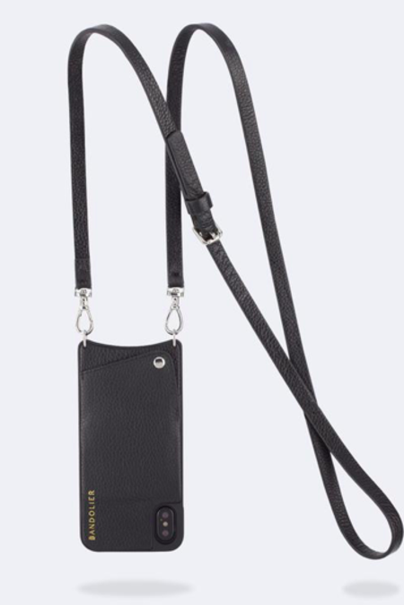 Bandolier Emma Leather Pouch - Black