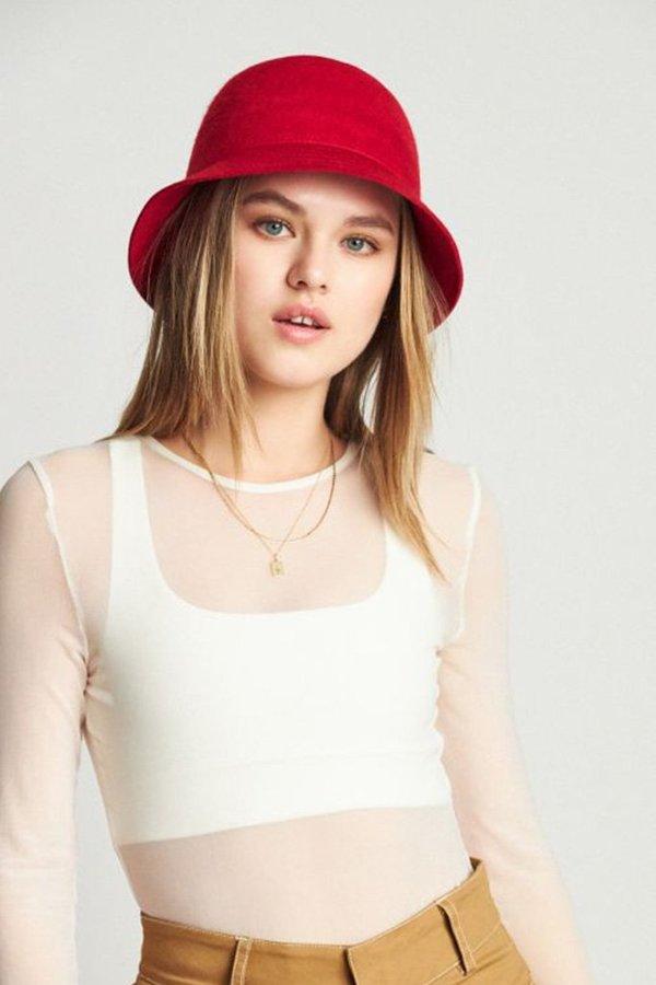 Unisex Brixton Essex Bucket Hat - Scarlett