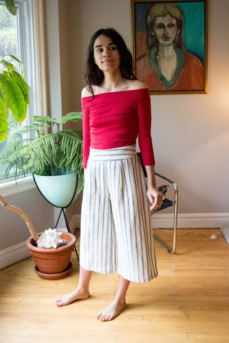 Amanda Moss Paloma Culotte - Striped Martinique