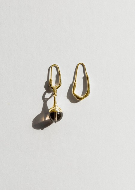 Jasmin Sparrow Lulu Earrings - Smokey Quartz/Gold