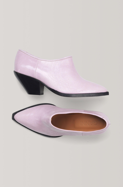 ganni pink cowboy boots