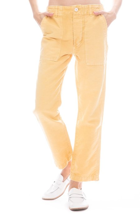 amo denim Relaxed Straight Leg Army Pant - Sunflower