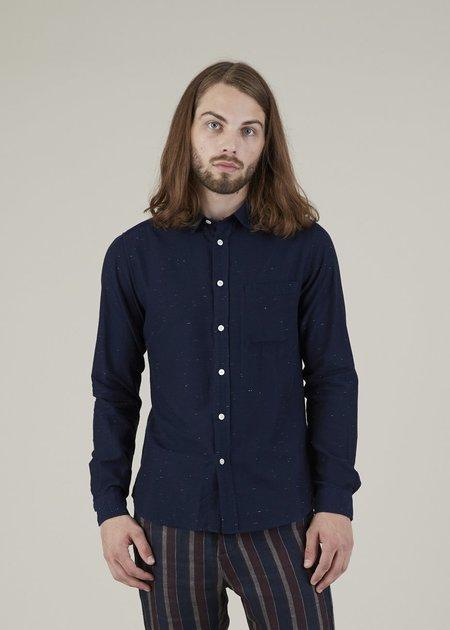 Commune de Paris Rossel Button-Up Shirt - Navy