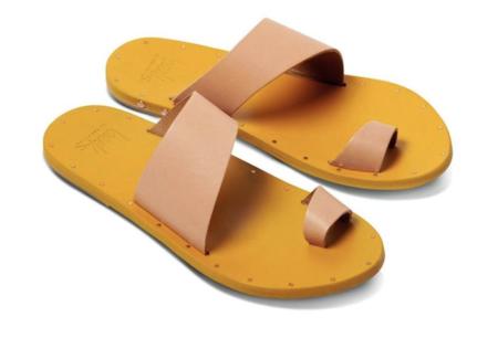 Beek Finch Sandals - Natural/Saffron