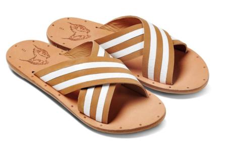 Beek Palila Sandals - Natural/White