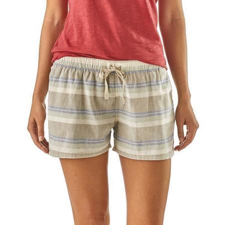 "Patagonia 3"" Island Hemp Baggies Shorts - Tarkine Stripe/Marrow Grey"