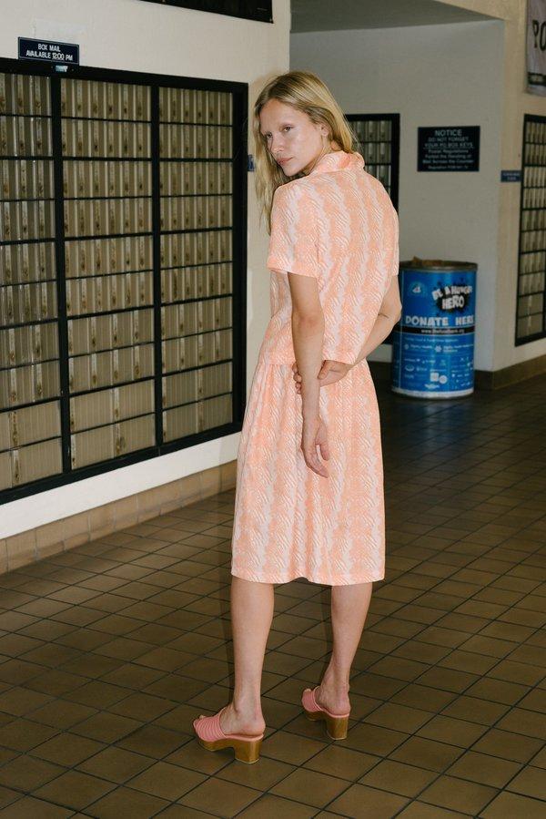Beklina French Ribbon Fuggiamo Skirt - Flamingo Glow