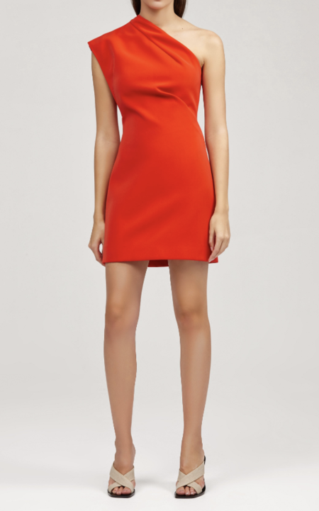 Acler Anguson Dress - Tangerine Red