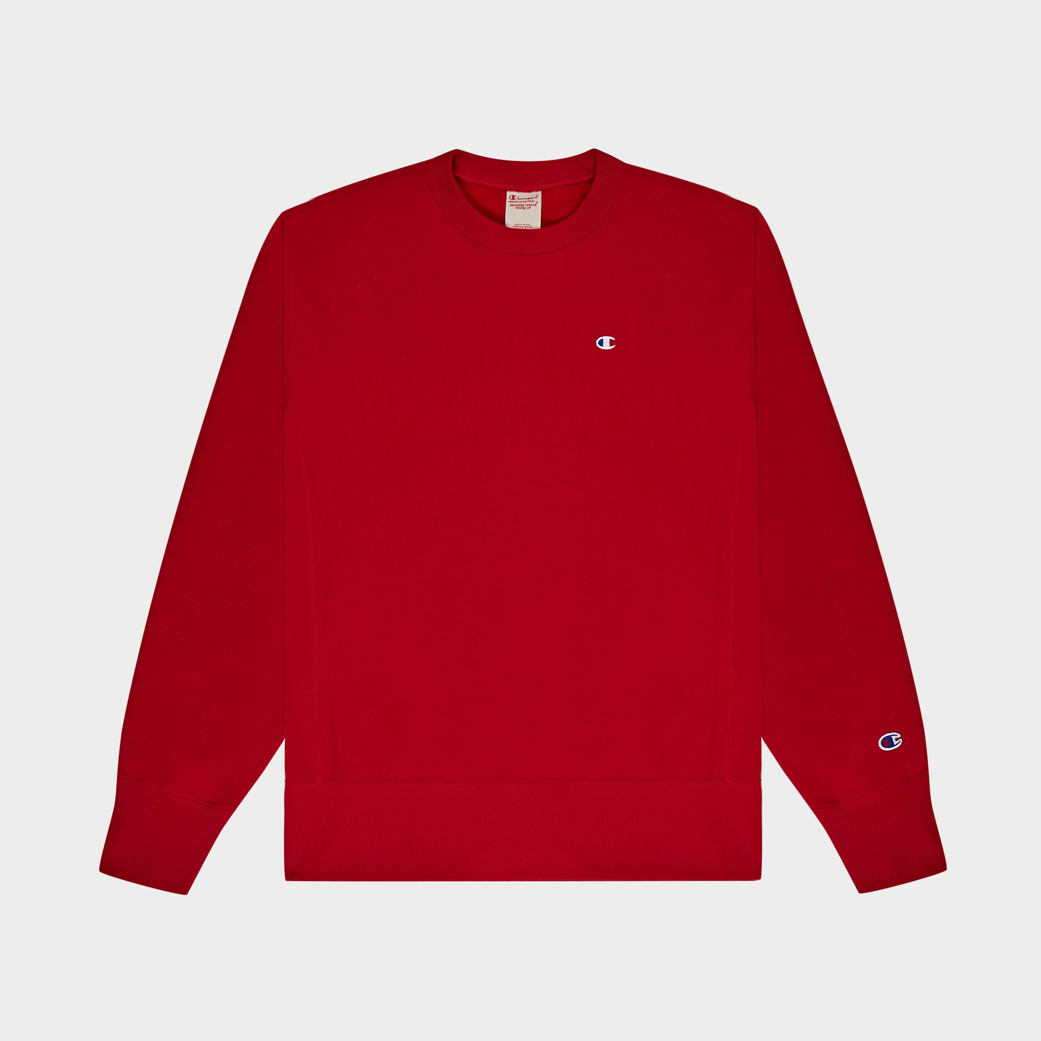 Sweatshirt Champion Crewneck Red Sweatshirt Champion Crewneck Red OZkiXuP