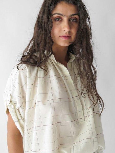 Nico Flora Shirt - White Check