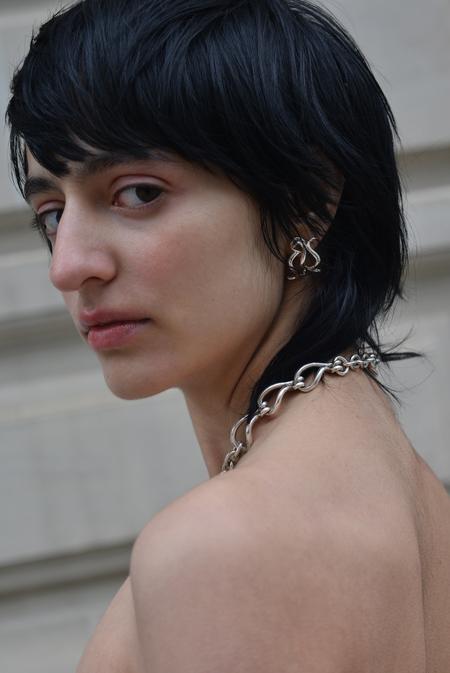 Sapir Bachar Ornament Earrings - Sterling Silver
