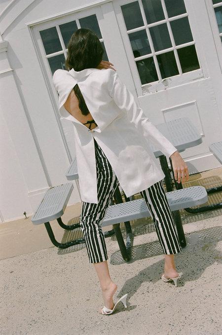Nomia Slit Back Coat - Ivory